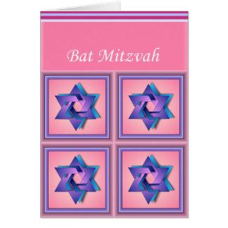 Estrella de la tarjeta de Mitzvah del palo de Davi
