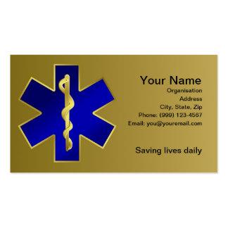 Estrella de la tarjeta de visita de vida