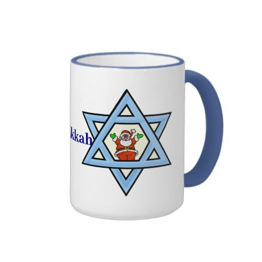 Estrella de la taza de David y de Santa Chrismukka