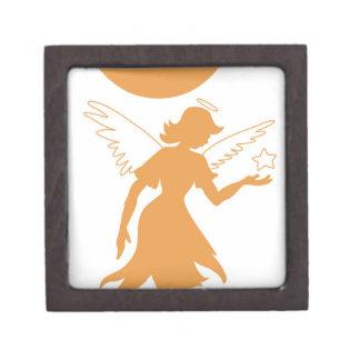 Estrella de la tenencia del ángel del Faery Caja De Joyas De Calidad