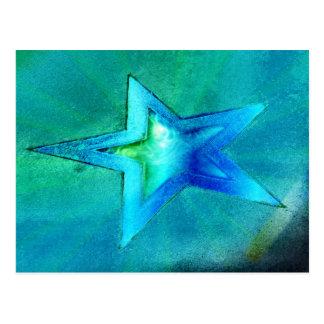 estrella de la turquesa tarjetas postales