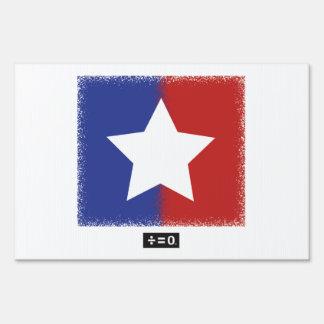 """Estrella de la unidad 12"""" x 18"""" muestra de la letrero"""