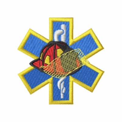 Estrella de la vida con el casco chaqueta bordada de entrenamiento