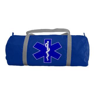 Estrella de la vida (logotipo solamente azul) bolsa de deporte