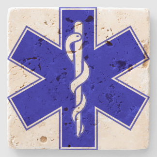 Estrella de la vida (logotipo solamente) posavasos de piedra