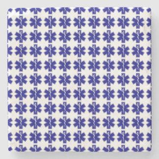Estrella de la vida (logotipo solamente-tejado) posavasos de piedra