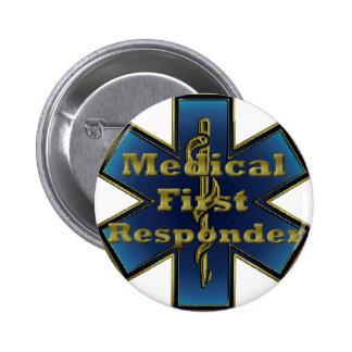 Estrella de la vida - primer respondedor médico pin