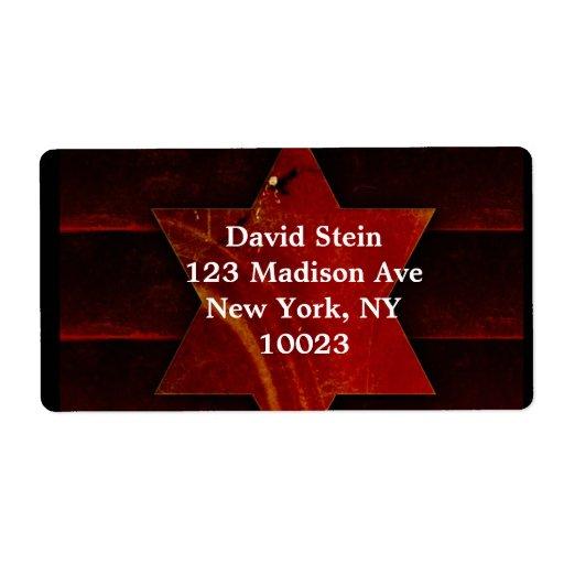Estrella de las etiquetas de David Etiqueta De Envío