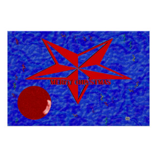 Estrella de las Felices Navidad Poster