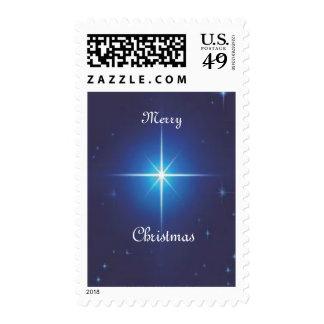 Estrella de las Felices Navidad Franqueo