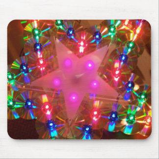 Estrella de las luces del disco tapete de ratones