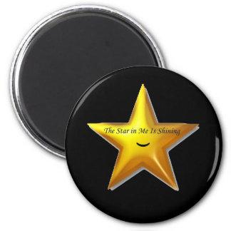 Estrella de levantamiento imán redondo 5 cm