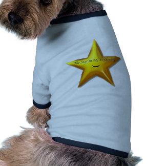 Estrella de levantamiento prenda mascota