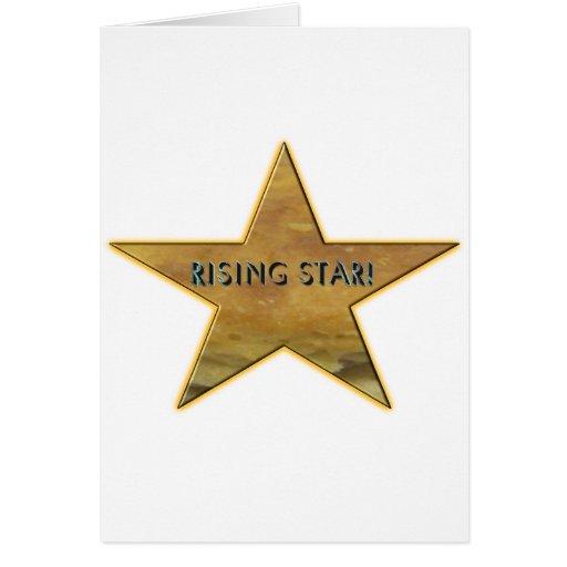 ¡Estrella de levantamiento! Tarjeta de felicitació