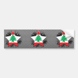Estrella de Líbano Pegatina Para Auto