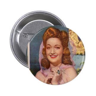 Estrella de los años 40 de Dorothy Lamour de las Pin Redondo 5 Cm