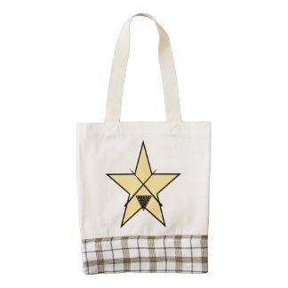 Estrella de los billares bolsa tote zazzle HEART