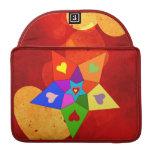 Estrella de los corazones del arco iris fundas para macbook pro