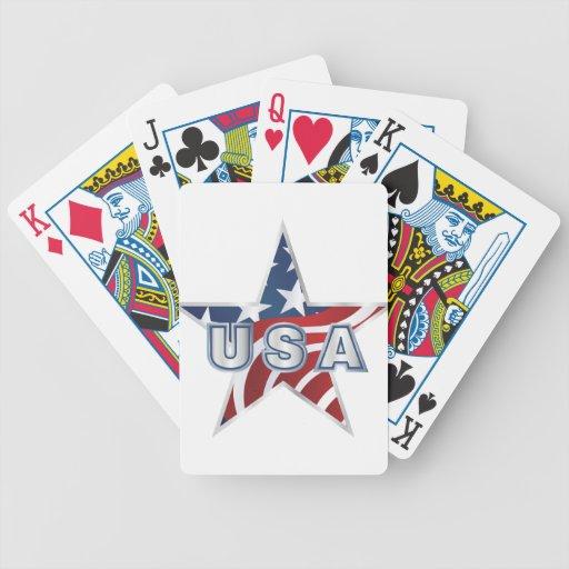 Estrella de los E.E.U.U. Barajas De Cartas