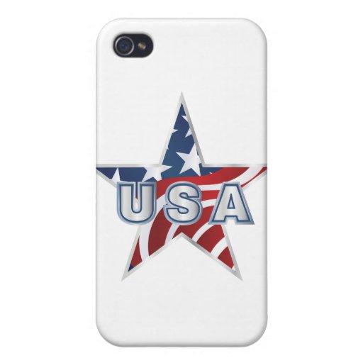 Estrella de los E.E.U.U. iPhone 4 Fundas