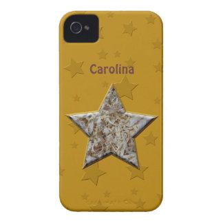 Estrella de los pedazos de madera para los iPhone 4 carcasas
