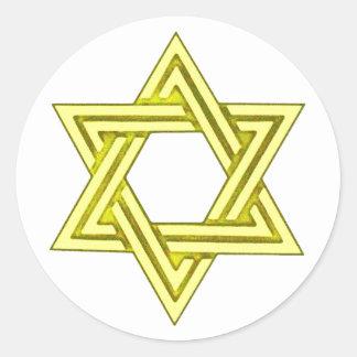 Estrella de los sellos del sobre de la invitación pegatina redonda