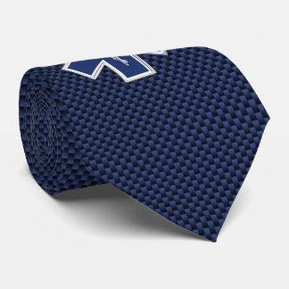 Estrella de los servicios médicos de la emergencia corbata personalizada