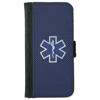 Estrella de los servicios médicos de la emergencia funda cartera para iPhone 6