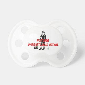 Estrella de lucha futura chupetes de bebé