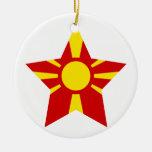 Estrella de Macedonia Adorno Redondo De Cerámica