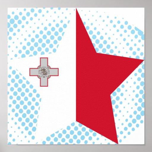 Estrella de Malta Póster