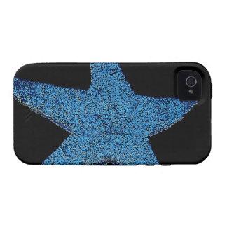 Estrella de mar azul de neón vibe iPhone 4 carcasas