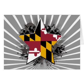 Estrella de Maryland Tarjeta De Felicitación