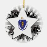 Estrella de Massachusetts Ornaments Para Arbol De Navidad