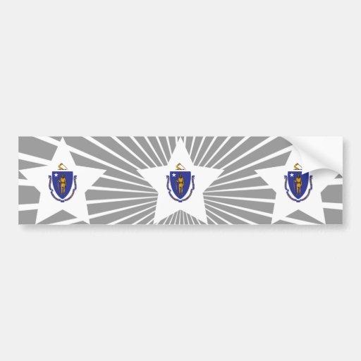 Estrella de Massachusetts Pegatina De Parachoque