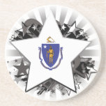 Estrella de Massachusetts Posavasos Manualidades