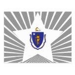 Estrella de Massachusetts Tarjetas Postales