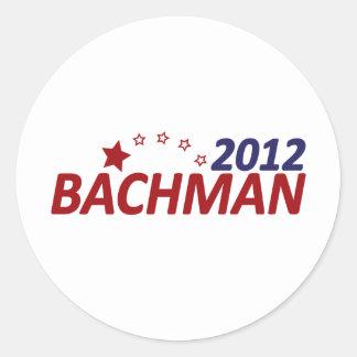 Estrella de Michelle Bachman 2012 Pegatinas Redondas