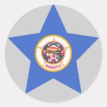 Estrella de Minnesota Etiqueta Redonda