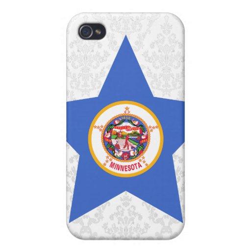 Estrella de Minnesota iPhone 4/4S Carcasa