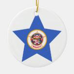 Estrella de Minnesota Ornamento De Navidad