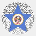 Estrella de Minnesota Pegatina Redonda