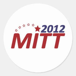Estrella de Mitt Romney 2012 Etiqueta Redonda