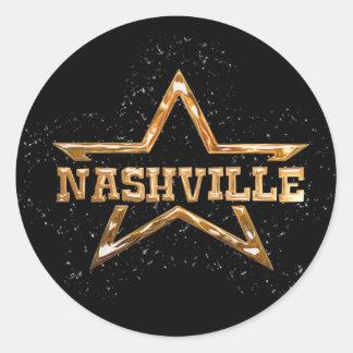 Estrella de Nashville Pegatina Redonda