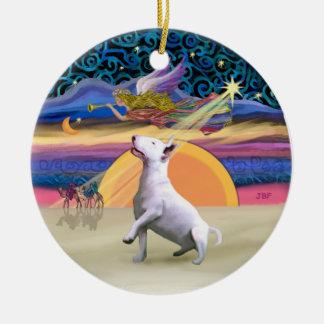 Estrella de Navidad - bull terrier #3 Ornamentos De Reyes