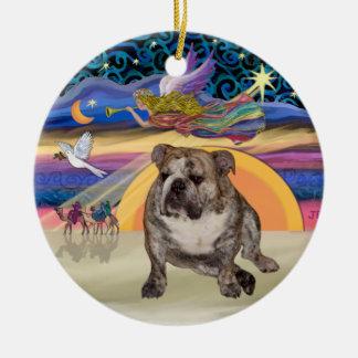 Estrella de Navidad - dogo inglés 2 Ornamentos De Navidad