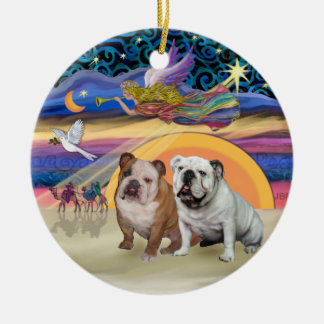 Estrella de Navidad - dos dogos ingleses Ornamentos De Navidad