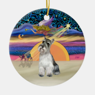 Estrella de Navidad - Schnauzer 11b Ornamentos De Reyes Magos