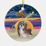 Estrella de Navidad - Shih Tzu #8 (marrón-crema) Ornamento Para Arbol De Navidad