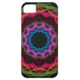 Estrella de neón del arco iris iPhone 5 carcasas